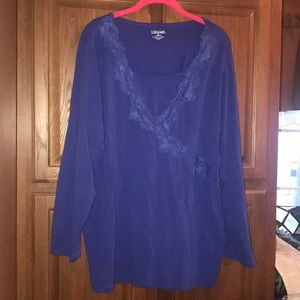 Liz &a Me Plus Size Lace Shirt 1X 18/20